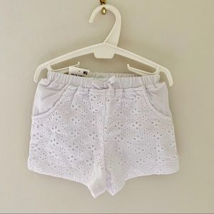 BNWT White Lace shirts Elastic waistband 18 months